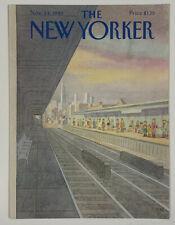 COVER ONLY ~ The New Yorker Magazine, November 24, 1980 ~ Charles E. Martin