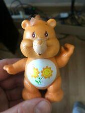 "Vintage AGC 1983 Care Bears Friend Bear Poseable PVC Figure 3.5"" Flowers"