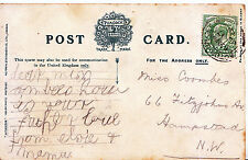 Genealogy Postcard - Family History - Coombes - Hampstead - London   656A