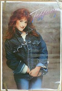 RARE TIFFANY 1988 VINTAGE ORIGINAL MUSIC POSTER
