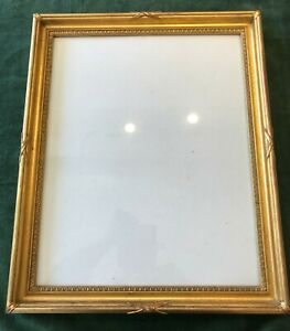 RARE ANTIQUE EARLY C19th GEORGIAN GILT MORLAND PICTURE FRAME OLD GLASS C1820
