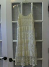 Charming Charlie womens dress size S cream lace knee length adjustable straps