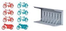 HO 1:87 Kibri 38143 URBAN CITY CENTER : BICYCLE STAND  : Model Detail KIT