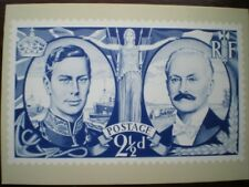 POSTCARD ROYAL MAIL 2.5D 1940 FOR PROPOSED ISSUE TO MARK POLITICAL ALLIANCE OF G
