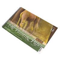2 x Spiral A4 Oil Painting Sketch Pads 12 Sheet 240gsm Textured Art Journal Pack