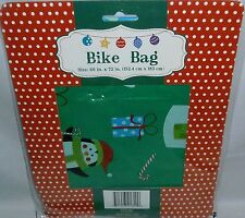 """CHRISTMAS BIKE GIFT BAG  60"""" x 72""""  Green"""