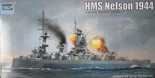 TRU06717 buque de guerra británico trompetista 1/700 HMS Nelson (1944) Modelo Kit