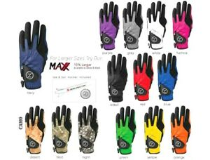 MEN'S ZERO FRICTION COMPRESSION GOLF GLOVE-ONE SIZE FITS ALL-14 COLORS LH & RH