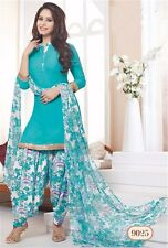 Indian Pakistani Salwar Designer Unstitched Patiala Synthetic Suit Fabric 9025