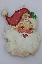 Santa * Christmas Ornament * Vintage Card Image * Glittered