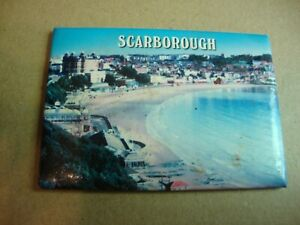 Scarborough Yorkshire photo style plastic fridge magnet