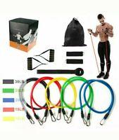 DE 11tlg Fitnessbänder Expander Fitness Zugseil Set Gymnastikband Yoga Latexband