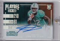 Kenyan Drake 2016 Contenders Side Variation Playoff Ticket Rc Auto Sp #ed 34/199