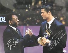 Cristiano Ronaldo And Pele Signed 16x20 Photo PSA/DNA COA