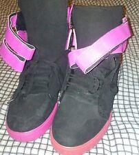 Mens Suede Black Pink Supra Skate Shoes Size 10