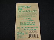 Kadee Hobby Tools:  Tap and Drill Set #247 for 1-72 machine screws