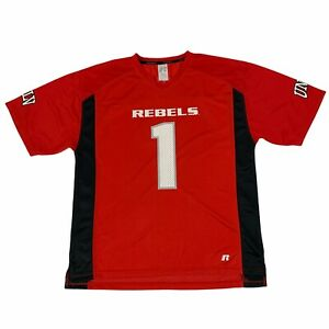 UNLV Rebels Jersey Shirt Adult Size L Red Short Sleeve Quick Dry Football Tee