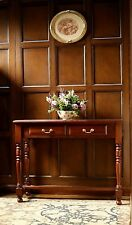 Solid Mahogany 2 Drawer Hall / Console Table H80 X W102 X D38 Cm To22