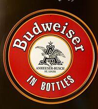 Budweiser In Bottles Logo Round TIN SIGN Drink Bar Metal Wall Decor