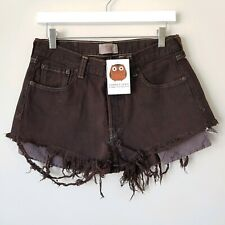 Harper And Lewis Vintage High Waisted Levi Denim Cut Off Shorts Brown Size 10