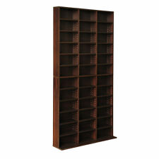 28 DVD Blu Ray 1116 CD Adjustable Book Storage Shelf Brown Unit Tower Rack