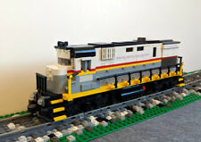 wheels buffers couplings magnet Custom Lego Train Gray Container Car 6x34 Base