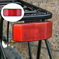 Bicycle Bike MTB Safety Caution Warning Reflector Disc Rear Pannier Racks ^