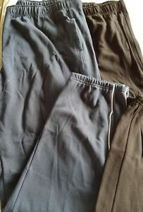 3XL {42}  mens track pants blue with white trim on legs  NEW