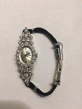 Vintage Ladies 14K Omega Diamond Watch