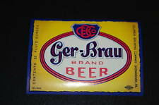 GER-BRAU BEER COLUMBIA BREWING SHENANDOAH PA UNUSED
