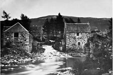 Photo. ca 1868. Aberdeenshire, Braemar, Scotland.  View - Mills