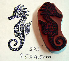 P95 Cling Mounted seahorse rubber stamp