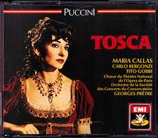 PUCCINI: TOSCA Maria CALLAS Carlo BERGONZI Tito GOBBI Georges PRETRE EMI 2CD 64