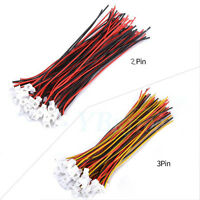 20pcs Micro JST PH 1.25 2 Pin/3 Pin Male Female Plug Connector Wire Cable 100mm