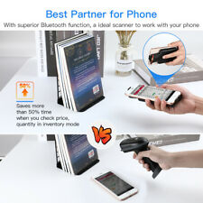 Eyoyo Back Clip Bluetooth Barcode Scanner Work with Phone 1D 2D Qr Image Scanner