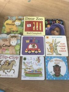 Baby Toddler 9 Books Bundle First Words Rod Campbell Counting Colours