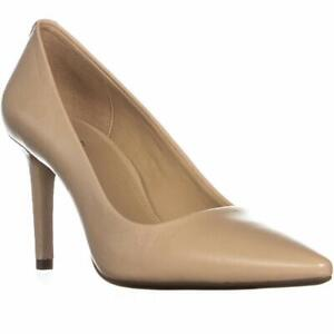 Michael Kors Womens Dorothy Leather Pointed Toe Classic Pumps, oyster, Size