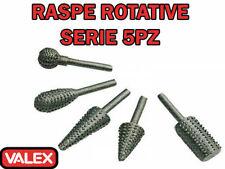SET RASPA RASPE ROTATIVE 5 PEZZI -.GAMBO 6 MM- VALEX