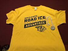 Nashville Predators Hockey XL Playoffs T-shirt & Light Up Necklace 2018 Giveaway