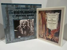 laserdisc - Hunchback Notre Dame 1923 Lon Chaney - repro 18 pg program -special