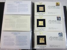 "75 U.S. Stamps 22K Gold Replicas 1st Day Issue ""Celebrate The Century"" 1950-1999"