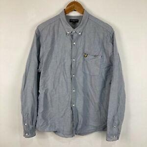 Lyle & Scott Mens Button Up Shirt Size XL Blue Long Sleeve Collared
