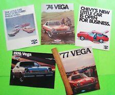 5 Diff 1973 - 1977 CHEVROLET VEGA COLOR CATALOGS Brochure VEGA GT Panel COSWORTH
