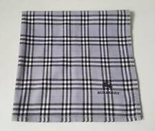 "USED GRAY  PLAID PATTERN  COTTON 18"" POCKET SQUARE HANDKERCHIEF FOR MEN"