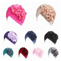 Women Hijab  Headwear  Scarf  Muslim Turban Chemo Hat  Beanie Double Flower