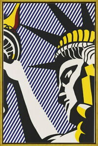 Framed Roy Lichtenstein I Love Liberty Giclee Canvas Print Paintings Poster
