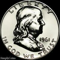 1961 Franklin Half Dollar ~ GEM Proof Uncirculated ~ 90% Silver US Coin