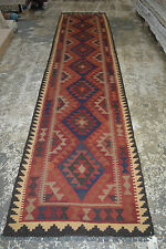 persian/turkish kilim rug handwoven maimana from Afghanistan 386*89cm (h613a)