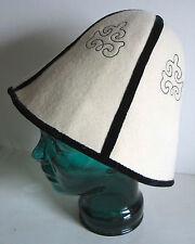 Vintage Eastern European Ladies Woman's Touring Hat Felt Silk Lined FREE SH