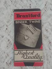 Vintage Advertising Booklet Brantford Binder Twine Gold Leaf #1 Canadian